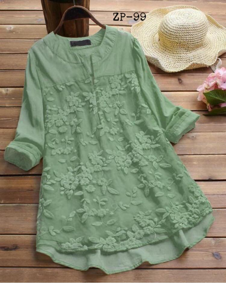 BEAUTIFUL DESIGNER EMBRIODERY C GREEN COLOUR TOP